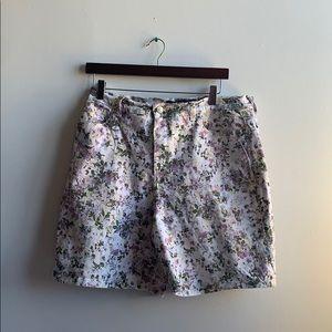 Floral Denim Shorts Gloria Vanderbilt Sz 12